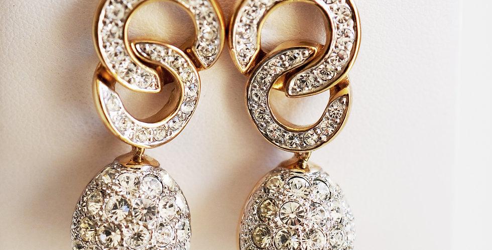 Gold Diamante drops