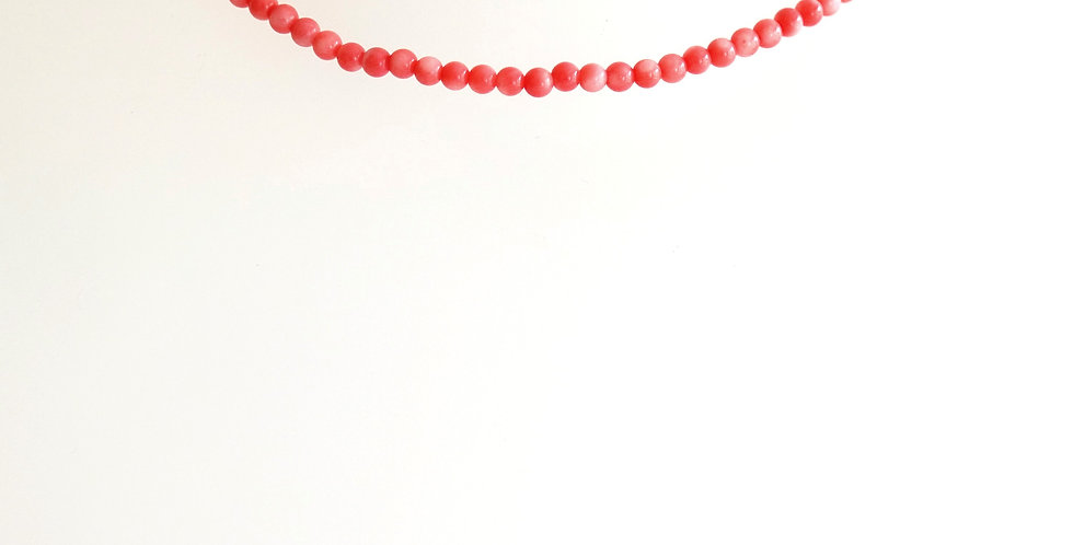 2mm Bright Pink Coral x 10