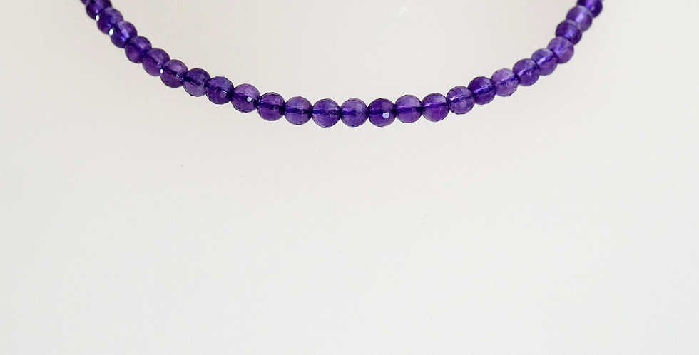 3mm Faceted Amethyst