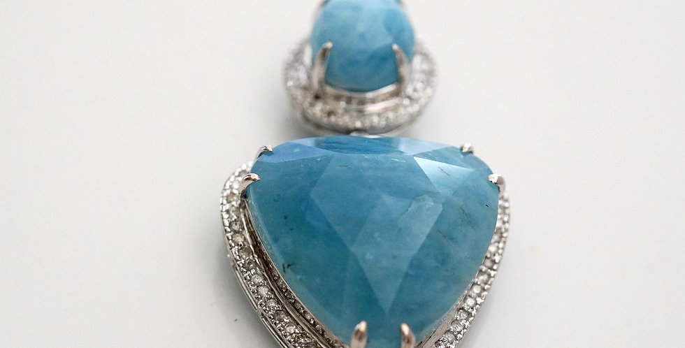 Aquamarine & diamonds