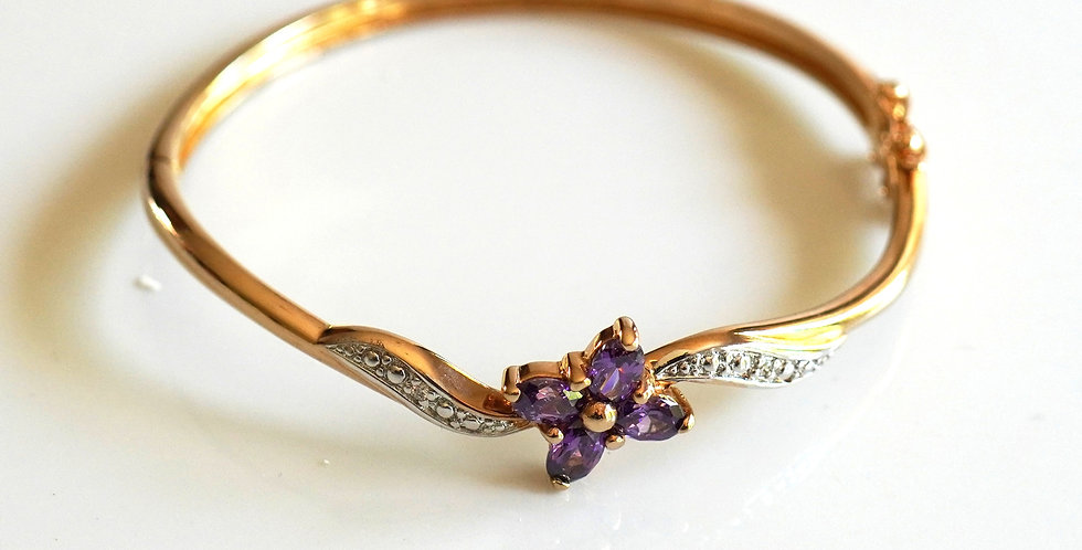 Rose Amethyst Bangle