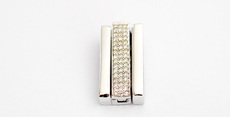 Silver Pave Set x2