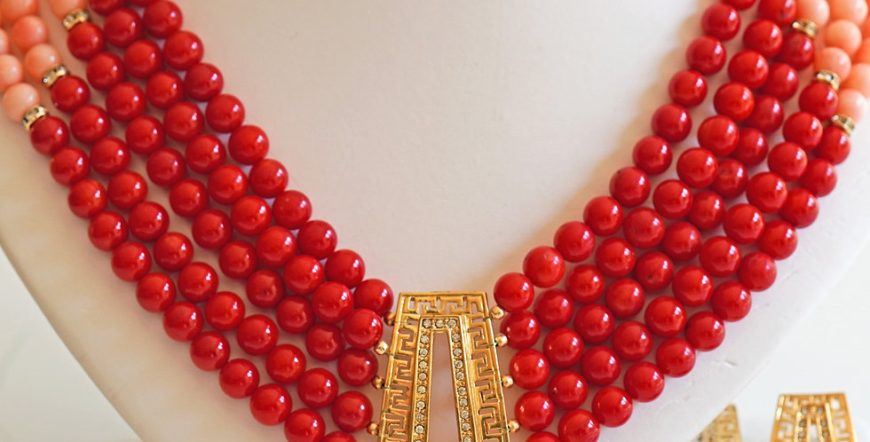 Red & Pink Coral Set