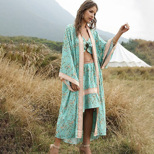 Lovina - Colourful Kimono Dressing Gown for Women
