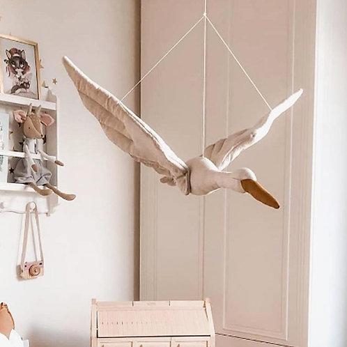 Bali - Hanging Cotton Bird Decoration - Boho Bedroom decoration Baby room decor