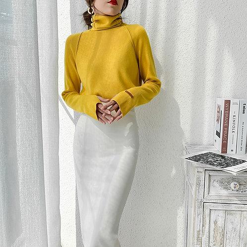 Alyssa - Knitted Turtleneck Jumper for Women