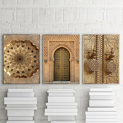Moroccan Architecture Wall Art - Canvas Poster