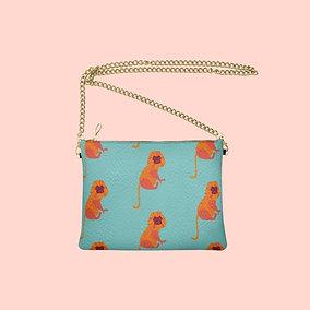 Macaca Designer Bag - Handmade Real Leather Crossbody Bag
