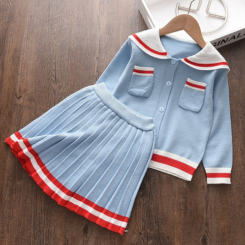 Classic Sailor - Baby Girls Clothes Knitted Outfit Sweet Clothing Set Gift ideas