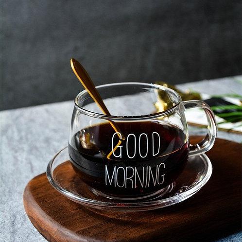 Good Morning Glass Cup - Mug