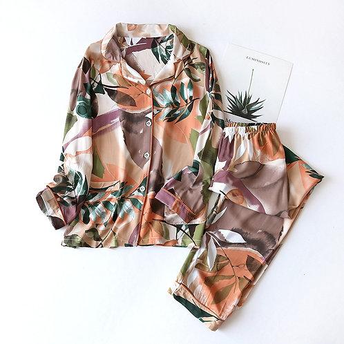 Colourful Ladies Pajamas Cotton Pyjamas PJ Set Homewear Sleepwear