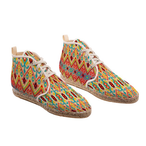 Carnaval - High Top Handmade Espadrille Ankle Shoes