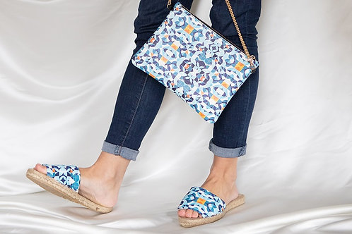 Azul Designer Bag - Handmade Real Leather Crossbody Bag