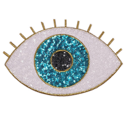 Blue Eye Sequin Patch