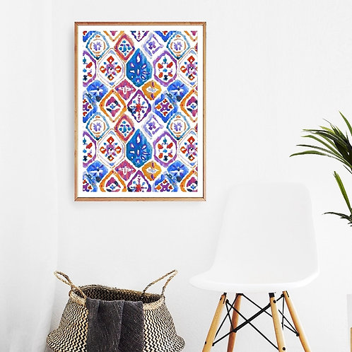 Morocco Abstract Wall Art - Canvas Poster