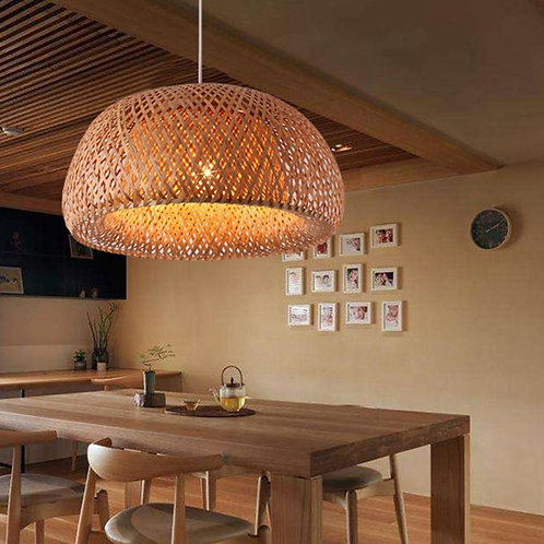 Bali - Hand-knitted Bamboo Chandelier - Rattan Lampshade