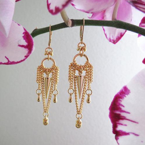 Oriental Gold Plated Earrings