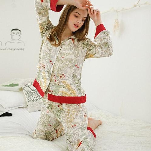 Tiju - Jungle Print Elegant Pyjama Set