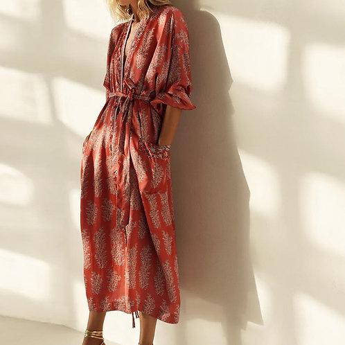 Morocco - Colourful Boho Kimono Dressing Gown Cardigan for Women Staycation wear