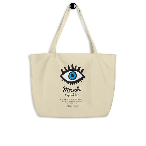 Meraki bag - Large organic cotton canvas bag