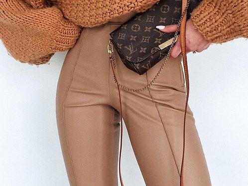High Waist Leather Style Leggings