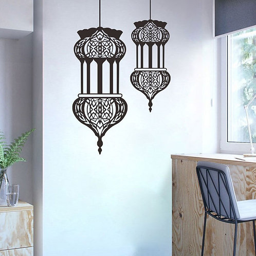 Morocco - Lantern Wall Stickers - 2 Pieces Set