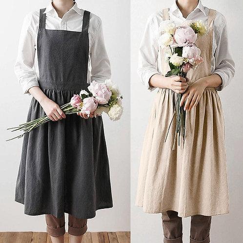 Bali - Vintage Style Linen Apron - Adjustable Cotton Apron