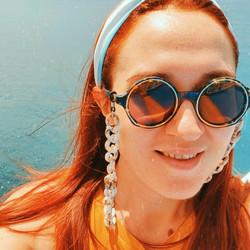 Sunglasses chain in beige
