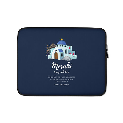 Mykonos Laptop Case - Greek Island Inspired Laptop Sleeve - Snug Fit Laptop Case