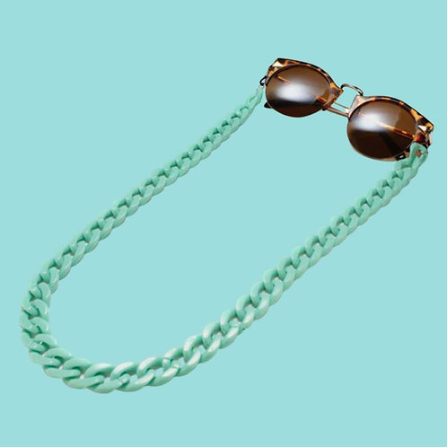 Green Sunglasses Chain and Mask Garland
