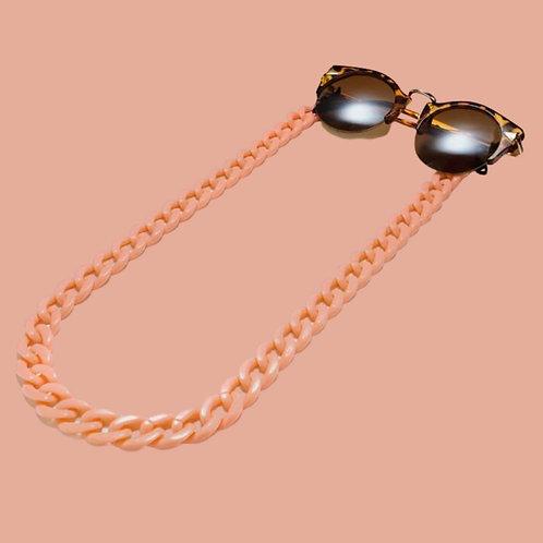 Orange Sunglasses Chain and Mask Garland