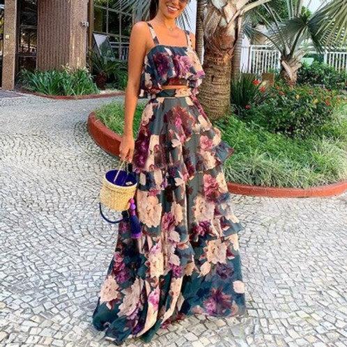 Grandeza - Floral Top and Maxi High-Waist Skirt