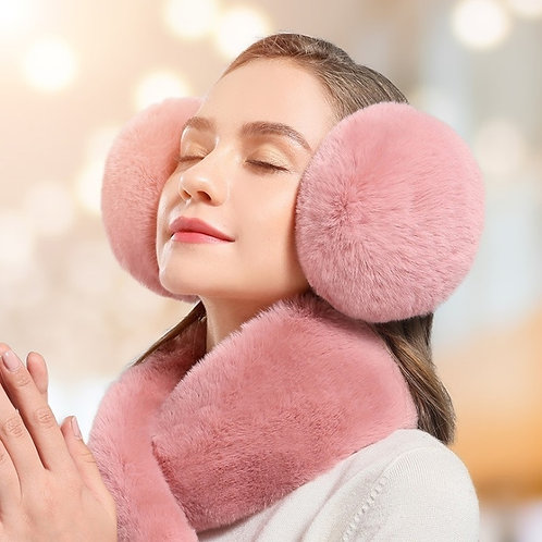 Winter Warm Earmuffs - Faux Plush Fur Earmuffs
