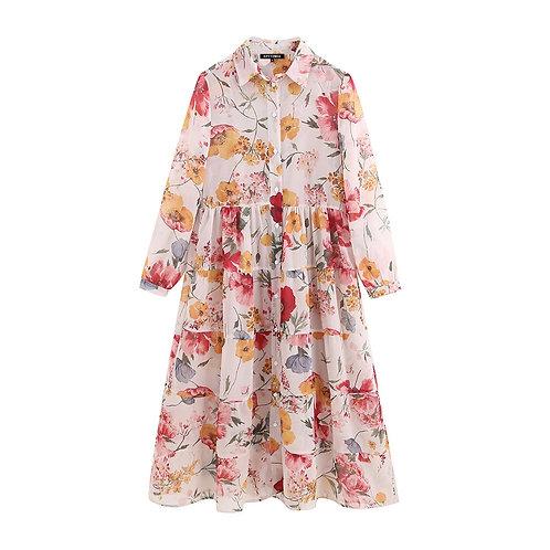 Flor - Floral Flouncy Dress