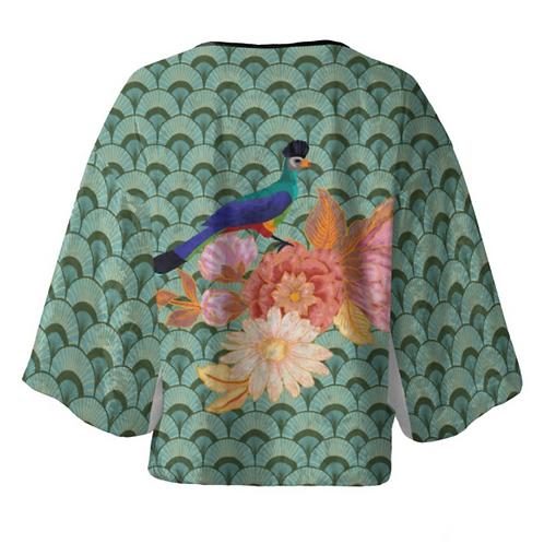 Passaro Roxo - Velour Kimono Blazer