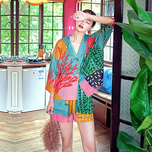 Cagarras - Colourful Pyjama Set for Ladies