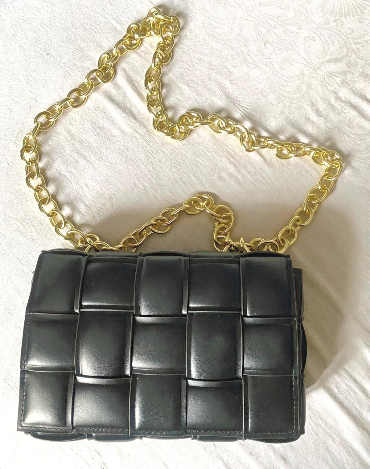 Athina black handbag