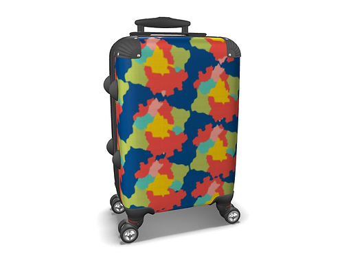 Mapa Colorido Colourful Carry-on Luggage