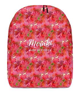 Eros - Red Floral Backpack - Designer Customisable Backpack