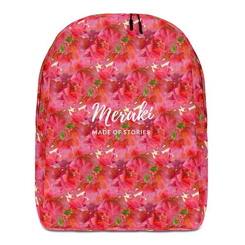 Eros - Red Floral Backpack - Designer Personalised Backpack Bag for Women