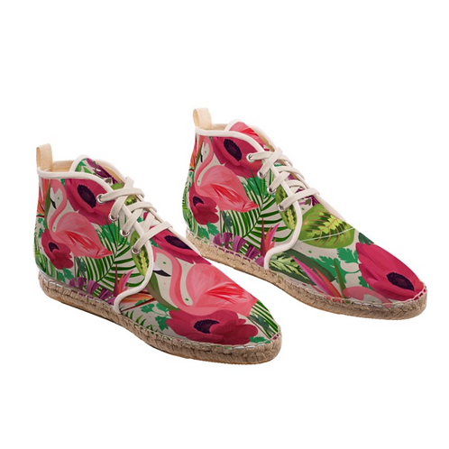 Flamingo - High Top Handmade Espadrille Ankle Shoes