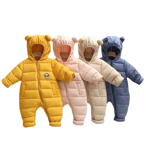 Bavaria - Baby Romper Warm Hooded Baby Jumpsuit Snowsuit for Infants