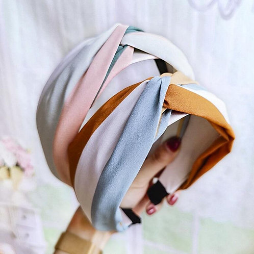 Tonal Turban Headband Colourful Stylish Hairband for Women Staycation Wear