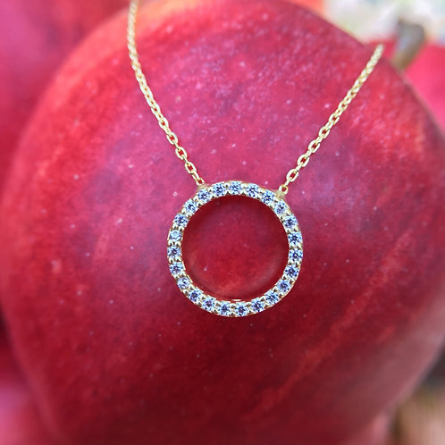 Halo Gold-Plated Necklace
