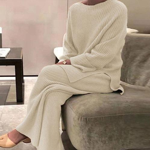 Knitted Loungewear Set for Women - Staycation Wear