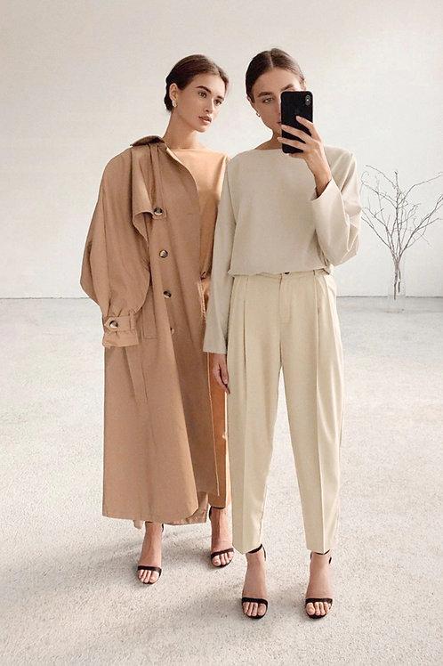 El Badi - Beige Trousers and Crop Top Set