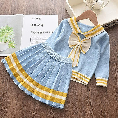 Sailor - Baby Girls Clothes Knitted Outfit Sweet Clothing Set Gift ideas