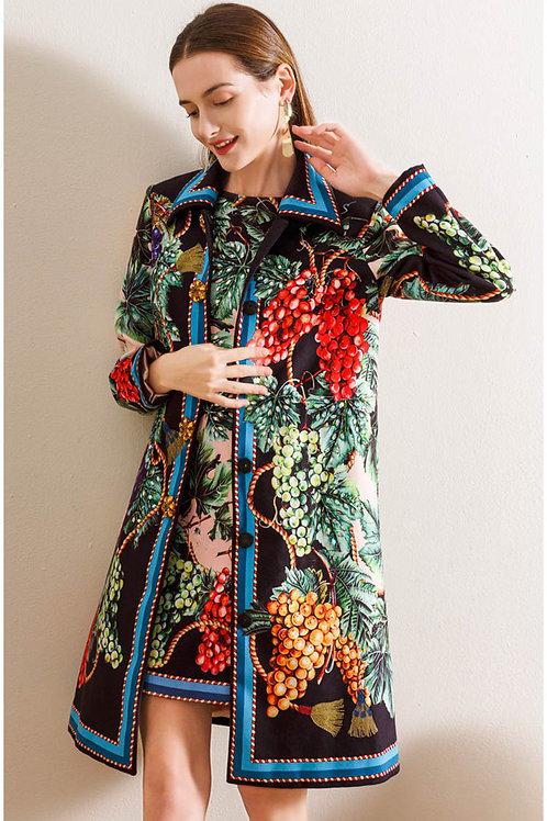 Barroca - Colourful Coat and Dress