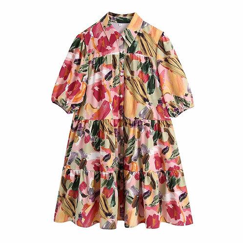 Pintar - Colourful Shirt Mini Dress