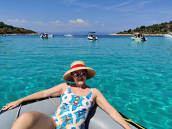 A boat trip in turquoise waters